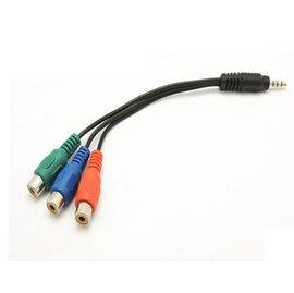 3.5mm音源(公)轉3色差線(母)藍紅綠 RCA轉接線/耳機轉電視線