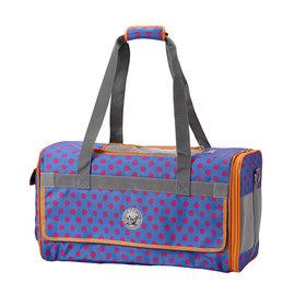 PARTY~FIVE 輕量立體臘腸狗 寵物包 可側背 手提寵物包~紫紅點