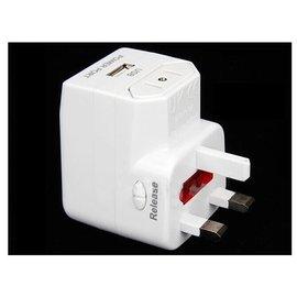 多功能出國轉換插頭( 附USB接口)/電源轉換插座/全球通萬用轉換器/多國插頭(適用中國,美國,英國,韓國..) **帶USB** [MPO-00008]