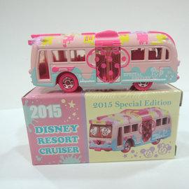 東京迪士尼樂園限定 2015情人節限定 斷貨 米奇遊園雙門巴士接駁車 Tomica 多美車