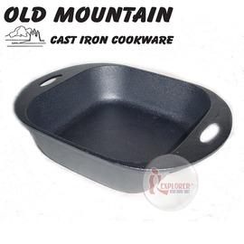 探險家戶外用品㊣10163 SB 美國Old Mountain 鑄鐵正方型深烤盤8吋 鑄鐵烤盤/鑄鐵盤/荷蘭鍋/焗烤盤 (免開鍋