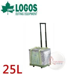 探險家戶外用品㊣NO.81670460 日本品牌LOGOS INSUL 10軟式保冷拖輪袋 (25L)  保冷箱 行動冰箱 冰筒 冰桶