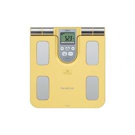 OMRON歐姆龍體重體脂計HBF~370^(鵝黃色^) ^(附 提袋一個^)體脂體重計