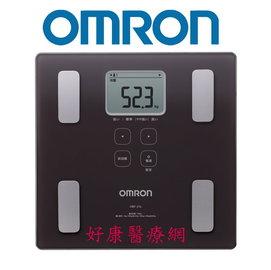 OMRON歐姆龍體重體脂計HBF~214^(咖啡色^) ^(附 提袋一個^)體脂體重計