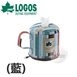 探險家戶外用品㊣NO.73189008 品牌LOGOS 條紋廁紙架 ^(藍^) 衛生紙架
