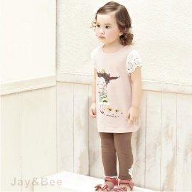 ~捷比 ~MeAnDo米果~JM4653~甜美玫瑰貼花蕾絲滾邊內搭褲