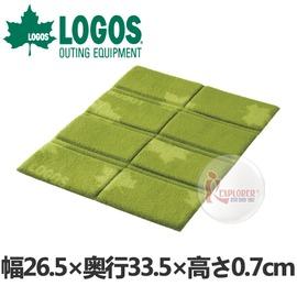 探險家戶外用品㊣NO.73812000 日本品牌LOGOS 8分折疊輕便刷毛坐墊 折疊墊 野餐墊 地墊 野餐毯 野營墊