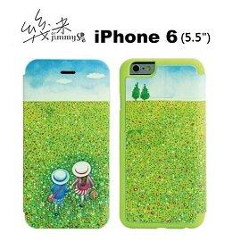 幾米系列~走向春天的下午  iPhone 6S Plus 6 Plus 側翻保護皮套~牽手