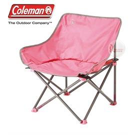 探險家戶外用品㊣CM-21992 美國Coleman 輕鬆椅 粉紅 盤腿椅月亮椅休閒椅露營椅折疊椅