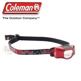探險家戶外用品㊣CM-22285 美國Coleman CHT4微型40流明LED頭燈 紅黑 三光源四段切換工作燈 登山 露營 野營