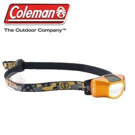 探險家戶外用品㊣CM-22305 美國Coleman CHT4微型40流明LED頭燈 芥末黑 三光源四段切換40流明工作燈 登山 露營 野營