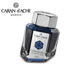 CARAN d ACHE 瑞士卡達 Chromatics 色彩墨水. 磁性藍  瓶