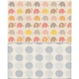 【紫貝殼】【LINE/電話/訂購7250元】『MBA04』新款 韓國Parklon帕龍 - PVC雙面包邊地墊(遊戲墊)泡泡遊戲大象正品(210*140*4公分)(粉灰白)