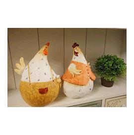 ~微加幸福雜貨小築~鄉村風雜貨 公雞 母雞 可愛情侶雞 帶路雞 波麗擺飾 花園布置 新居落