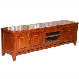 ~尚品傢俱~403~23 美崙 6.4尺半實木電視櫃^(含玻^) TV櫃 收納櫃 儲物櫃