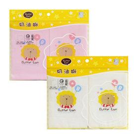 Butter Lion奶油獅 ~ 紗布素色印花手帕 ^(2條裝^)