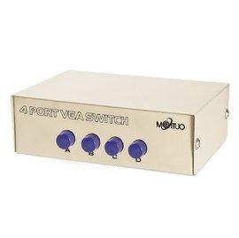 新竹市 (switch) VGA 4port/4阜 4進1出 電腦4切1螢幕 切換器/分配器/轉換器 [JKV-00001]