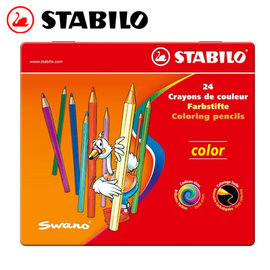 為止 STABILO 德國天鵝 Color 系列六角形色鉛筆 ^(1824 77^) 24