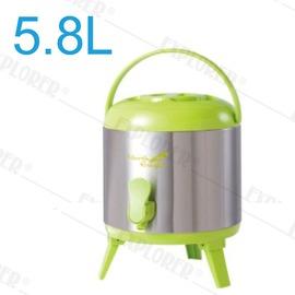 探險家戶外用品㊣NE622 日本North Eagle 冷熱兩用冰桶5.8公升 保溫桶 保溫壺 冰箱 冰桶 水桶 飲料桶