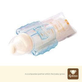 六甲村‧拋棄式奶瓶5入(250ml)+手握器+奶嘴蓋組