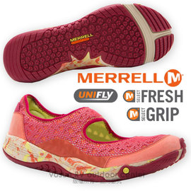 【美國 MERRELL】女新款 ALLOUT BOLD 都會休閒健走鞋/防水透氣鞋.運動鞋.娃娃鞋.輕量.適自行車.健走慢跑(非Nike)_桃紅 J21632