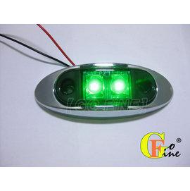 GO~FINE夠好台製2led燈超迷你高亮度綠殼綠2線1段輪廓燈輪寬燈車頂燈led側燈le