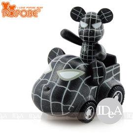 POPOBE熊 車載系列 2吋公仔車飾 小汽車玩具擺飾 暗黑蜘蛛人 彼得派克 非 暴力 M