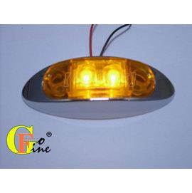 GO~FINE夠好台製2led燈超迷你高亮度黃殼黃2線1段輪廓燈輪寬燈車頂燈屋頂燈led側