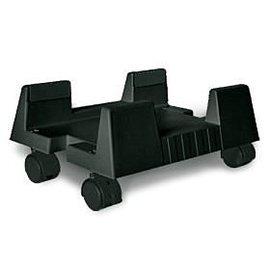 主機立架塑膠 輪 電腦PC主機立架 活動滑輪 移動方便