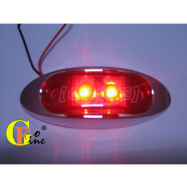 GO~FINE夠好台2led燈超迷你高亮度紅殼紅2線1段led燈led側燈led邊燈led