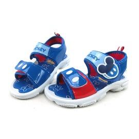 小朋友童鞋親子館◆迪士尼Disney涼鞋 ^~ ^~ 中童 米奇大LOGO貼圖 雙魔鬼氈防