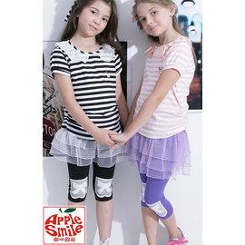 甜心蘋果 專櫃 春夏 款大女童內搭短褲 蕾絲澎裙褲 純棉彈性布料 加大 女 黑色.紫色.灰