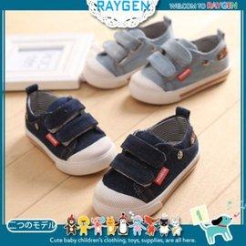 童鞋 男童星星牛仔休閒鞋 帆布鞋 學步鞋【HH婦幼館】