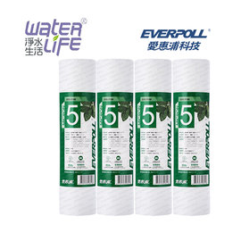 【淨水生活】《EVERPOLL 愛惠浦科技》【公司貨】標準型5微米PP濾心 EVB-F105 【4支組】