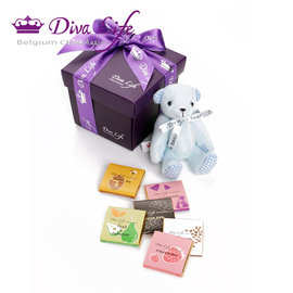 Diva Life 寶貝熊巧克力 6片 盒