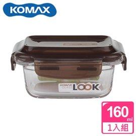 KOMAX 巧克力長形強化玻璃保鮮盒160ml(59073)【AE02248】