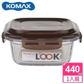 KOMAX 巧克力方形強化玻璃保鮮盒440ml(59071)【AE02251】