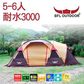 探險家露營帳篷㊣TE1390 韓國BUFFALO 4-5人帳篷 一房一廳 網屋 隧道帳 客廳帳
