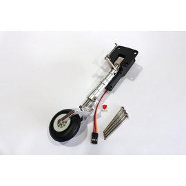 ~RCBLOG~CNC加工鋁合金像真避震 電動前起落架總承 4mm 金屬荷動件3^~4kg