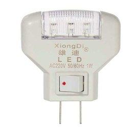 3 LED小夜燈/壁燈/床頭燈/臥室燈/寶寶燈 (220/110V通用) **1W白光-帶開關小夜燈**