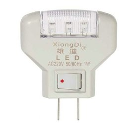 LED小夜燈/壁燈/床頭燈/臥室燈/寶寶燈 (220/110V通用) **1W白光-帶開關小夜燈**
