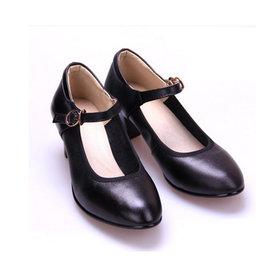 5Cgo~ 七天交貨~37365430871 女式真皮摩登舞鞋高跟牛皮舞蹈鞋交誼舞鞋繞帶跳