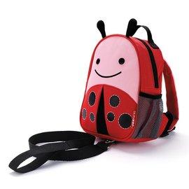 【紫貝殼】『HB14』美國 SKIP HOP 可愛動物園 ZOO-LET 迷你防走失背包~附防走失帶(甲蟲/Ladybug)