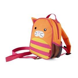【紫貝殼】『HB14』美國 SKIP HOP 可愛動物園 ZOO-LET 迷你防走失背包~附防走失帶(貓咪/Cat)