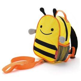 【紫貝殼】『HB14』美國 SKIP HOP 可愛動物園 ZOO-LET 迷你防走失背包~附防走失帶(蜜蜂/Bee)