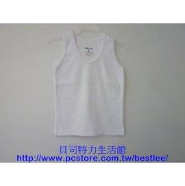 805 羅紋男小背心 全白 34號 ^|^| 小三福^(男13~15歲 ^) ^|^| M
