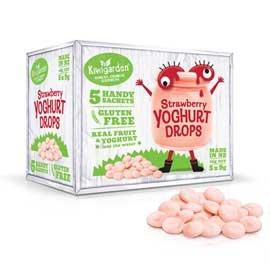Kiwigarden 草莓優格水滴豆豆 9gx5包 盒