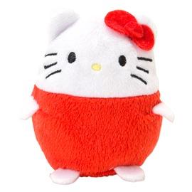 Hello Kitty凱蒂貓紅色立體人形療癒系蛋型絨毛娃娃 掌上型玩偶 公仔 玩具