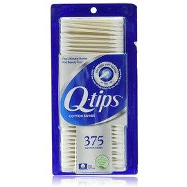 美國Q~tips紙軸棉花棒一盒375支^(100^%純棉^)