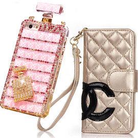 香奈兒iPhone手機保護殼 Chanel 6Plus iPhone5小香風奢華真皮皮套C